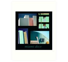 Miami Deco Art Print