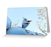 olaf at disneyland  Greeting Card