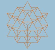 64 sided tetrahedron  by John Girvan