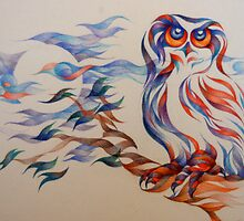 in a bad mood (snowy owl) by gerardo segismundo