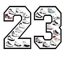 Jordan 23 (Black Numbering) by finnyproduction