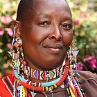 Portrait of a Maasai (or Masai) Woman, East Africa  by Carole-Anne