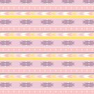 South West Diamond Stripes Pink Yellow Mauve by ThistleandFox