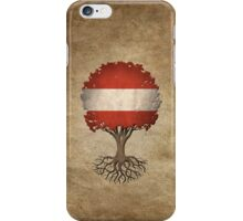 Tree of Life with Austrian Flag iPhone Case/Skin