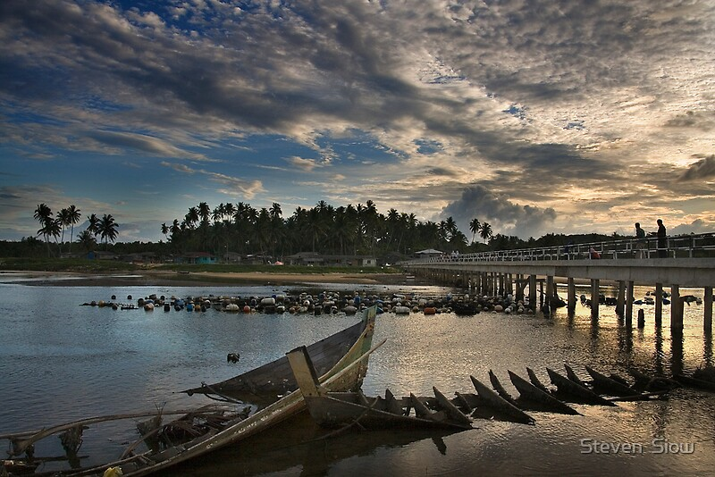 East coast fishing village by steven siow redbubble for East coast fishing