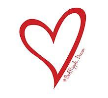 #BeARipple...Dream Red Heart on White by BeARipple
