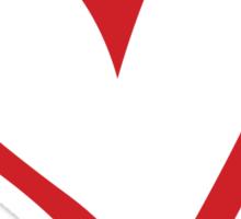 #BeARipple...Destiny Red Heart on White Sticker