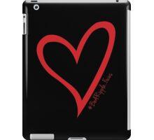 #BeARipple...Focus Red Heart on Black iPad Case/Skin