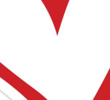 #BeARipple...Focus Red Heart on Black Sticker