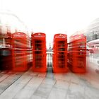 Red phone boxes by mistertof