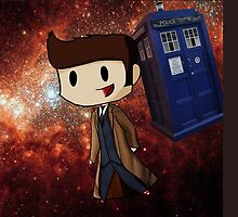 Chibi 10th Doctor in Space (Doctor Who) by Diddlys-Shop