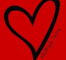 #BeARipple...Destiny Black Heart on Red by BeARipple