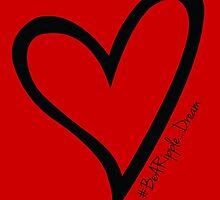 #BeARipple...Dream Black Heart on Red by BeARipple
