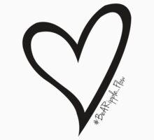 #BeARipple...Flow Black Heart on White by BeARipple
