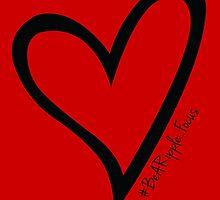 #BeARipple...Focus Black Heart on Red by BeARipple