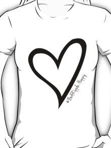 #BeARipple...Happy Black Heart on Red T-Shirt