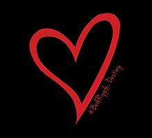 #BeARipple...Destiny Red Heart on Black by BeARipple