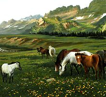 The Wu Shan Fairy Series Wild Horses by Ze Zhao