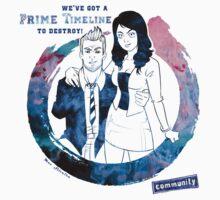 Community: Evil Jeff & Evil Annie by MaxGunner44
