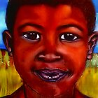 (Pastel Portrait - Rasta) South African Boy by Mariaan Maritz Krog Fine Art Portfolio