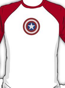 Simple 2D Captain America Shield T-Shirt