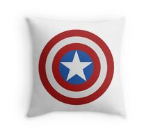 Simple 2D Captain America Shield Throw Pillow