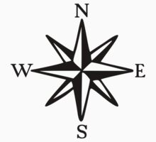 Compass Rose (monochrome) T-Shirt