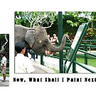 Elephant Series #11 Painting Artists of Bali by Keith Richardson