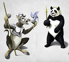 Donkey Xote and Sancho Panda (wordless) by robCREATIVE