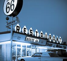 The Route 66 Restaurant. Santa Rose. New Mexico. by Alan Copson