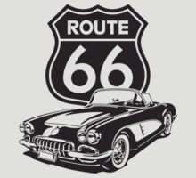 Route 66 - 1960 Corvette by MuralDecal