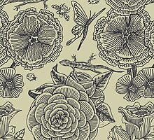 Garden Bliss - vintage floral illustrations by Perrin Le Feuvre