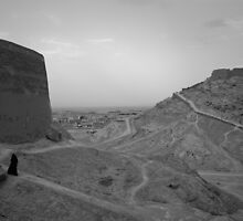 Towers of Silence, Yazd, Iran by Desmond Kavanagh