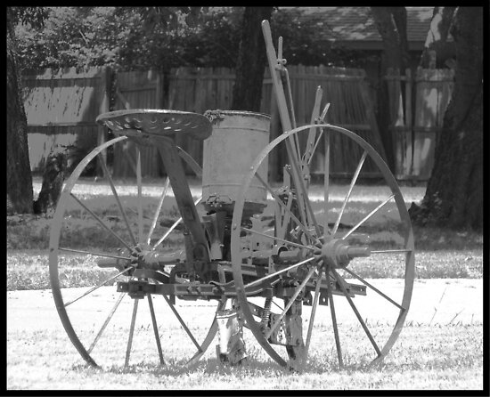 Historic Farm Plow by Glenna Walker