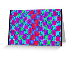 Tumblr 30 by CAP - ITS ALIVE! Moving Optical Illusion Psychedelic Design Greeting Card