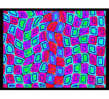 Tumblr 30 by CAP - ITS ALIVE! Moving Optical Illusion Psychedelic Design Photographic Print