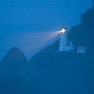 Heceta Head Lighthouse at Dusk by OrPhotoJohn