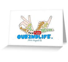 Our2ndLife drawn collage Greeting Card