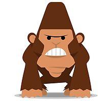 Angry Tiny Gorilla by sapto7