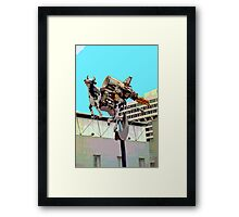 Cow with Rocket Strapped to Its' Back 2 Framed Print