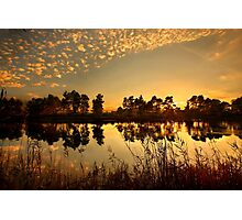 Sunset at Kaiafas lake Photographic Print