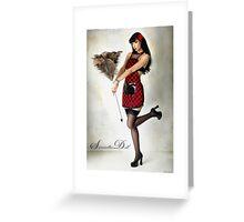 Samantha Pin Up Doll 2 Greeting Card