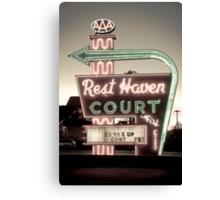 Route 66. Rest Haven Court Motel. Springfield. (Alan Copson ©) Canvas Print