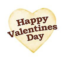 Heart Shaped Happy Valentine Day Text Design by DFLC Prints