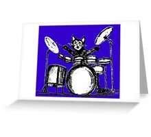 Drummer Cat Greeting Card