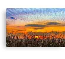 Indiana Sundown Canvas Print