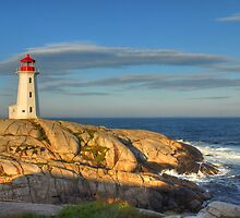 Peggy's Cove Lighthouse - Nova Scotia, Canada by Howard Simpson