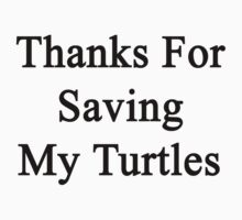 Thanks For Saving My Turtles  by supernova23