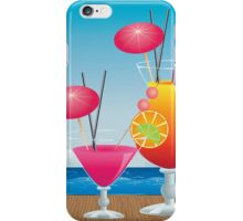 Cocktail on the beach 3 iPhone Case/Skin