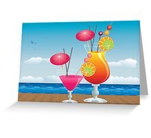 Cocktail on the beach 3 Greeting Card
